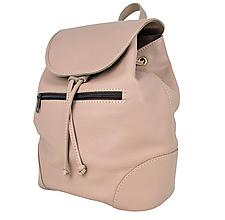 Batohy - Kožený batoh vo svetlo fialovej farbe - 9566373_