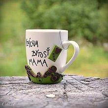 Nádoby - Vzácna bytosť mama II. - hrnček s čajom - na čaj - 9565994_