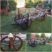 Dekorácie - Dreveny voz rebrinak 300cm - 9567225_