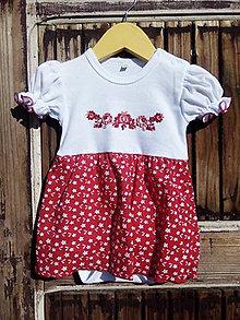 Detské oblečenie - Folk - body -šaty - 9564338_