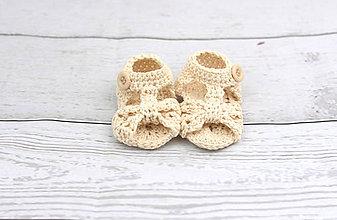 Topánočky - Béžové sandálky FINE - 9565759_