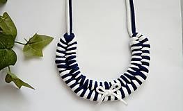 Uzlový náhrdelník - Mašlička pre námorníčku