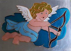 Obrazy - Anjelik na skle - 9564724_