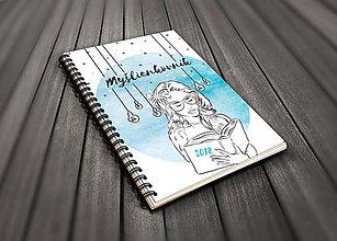 Knihy - Môj myšlienkovník - modrý - 9564784_
