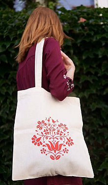 Nákupné tašky - Nákupná taška červenô - 9565980_