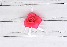 Pierka - Pierko pre ženícha ružová ruža - 9565931_