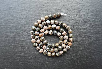 Minerály - Opál hnedomodrý 6mm - 9567491_
