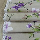 Úžitkový textil - Jarný s fialovou - stredový obrus 135x38 - 9566152_
