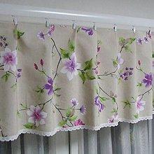 Úžitkový textil - Jarný s fialovou - dekoračný záves na okno 160x38 - 9563934_