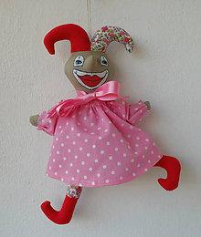 Hračky - FILKI dekoračný Pán šaško ružový - 9564095_