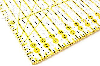 Pomôcky/Nástroje - Pravítko na patchwork 15 x 60 cm - 9565666_