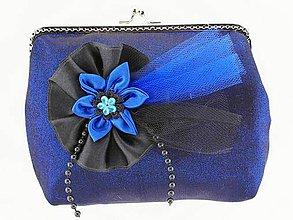 Kabelky - Spoločenská dámská  kabelka modrá 5546 - 9570696_
