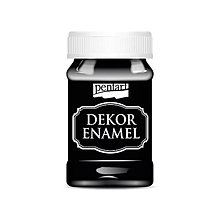 Farby-laky - Dekor enamel, 100 ml, dekoračný smalt, (čierna) - 9569143_
