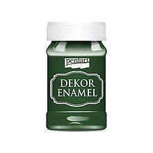 Farby-laky - Dekor enamel, 100 ml, dekoračný smalt, (zelená) - 9569425_