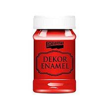 Farby-laky - Dekor enamel, 100 ml, dekoračný smalt, (červená) - 9569659_