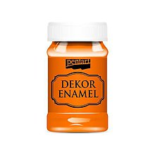 Farby-laky - Dekor enamel, 100 ml, dekoračný smalt, (pomarančová) - 9569689_