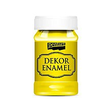Farby-laky - Dekor enamel, 100 ml, dekoračný smalt, (žltá) - 9569691_