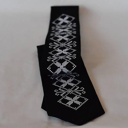 Pánska kravata čierna