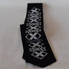 Doplnky - Pánska kravata čierna - 9567757_