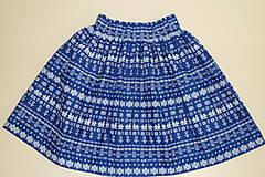 - Sukienka Čičmany mini modrá na obj. - 9568289_