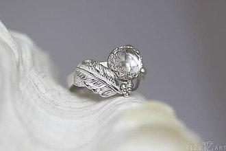 Prstene - Strieborný anjelský prsteň s krištáľom - S Tebou - 9568858_