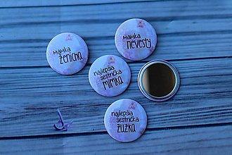 Odznaky/Brošne - zrkadielko (Ružová) - 9568269_