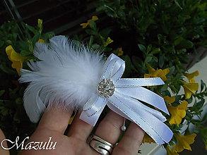 Pierka - svadobné pierko v striebornom - 9567778_