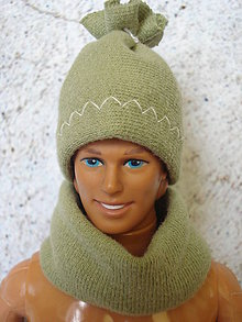 Hračky - Barbie, Ken - zelená čiapka s brmbolcom - 9568370_