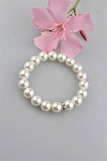 Náramky - perly swarovski náramok - 9570118_