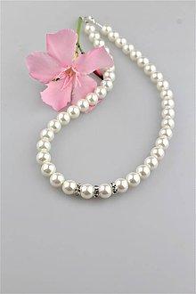Náhrdelníky - perly swarovski náhrdelník - 9570146_