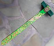 Iné doplnky - Princezná na hrášku-maľovaná a vyšívaná dámska kravata - 9569396_