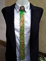 Iné doplnky - Princezná na hrášku-maľovaná a vyšívaná dámska kravata - 9569411_