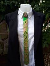 Iné doplnky - Princezná na hrášku-maľovaná a vyšívaná dámska kravata - 9569412_