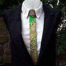 Iné doplnky - Princezná na hrášku-maľovaná a vyšívaná dámska kravata - 9569394_