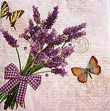 Papier - Servítka L5- Levanduľa a motýle - 9569886_