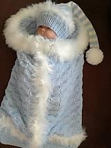 Pleteny vak s čiapočkou -kožušinkou