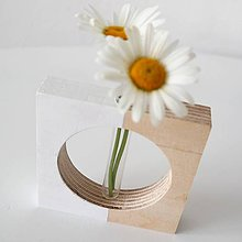 Dekorácie - vázička Kruh biela - 9570786_