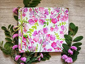 Papiernictvo - Fotoalbum klasický, polyetylénový obal s potlačou peknou kvetinkovou III. - 9570630_