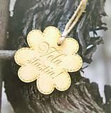 Darčeky pre svadobčanov - Magnetka - štvorlístok s nápisom - 9568407_