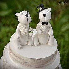 Dekorácie - Ľadové medvede  - figúrky na svadobnú tortu - 9568148_