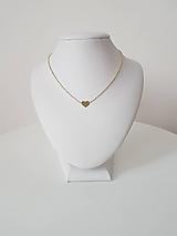 Náhrdelníky - Zlatá retiazka so srdiečkom (Žlté zlato) - 9569680_