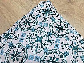 Úžitkový textil - modrý vzor - vankúš - 9570941_