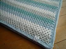 Textil - Pre Vaše poklady - háčkovaná deka - 9570912_