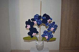 Dekorácie - Háčkovaná orchidea - 9569730_