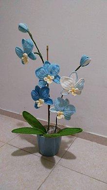 Dekorácie - Háčkovaná orchidea - 9570308_