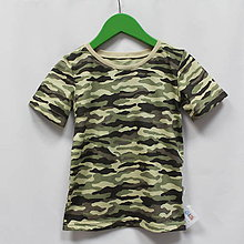Detské oblečenie - Maskáčové tričko s krátkym rukávom - 9568134_