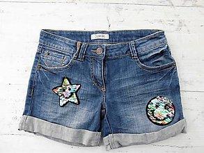 Detské oblečenie - Rifľové kraťasy - smile/hviezda - 9569505_