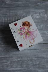 Detské doplnky - krabička, pokladnička s menom (bez priečinkov) - 9567899_