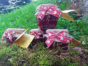 Darčeky pre svadobčanov - Darček pre svadobčanov, gravírovaný džem - 9573188_