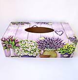 Krabica na papierové vreckovky- levanduľová